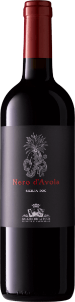 The Nero d'Avola Sicilia DOC by Sallier de La Tour has an intense ruby red colour in the glass, with the typical aromas of a young wine with red fruits, berries and cherries on the nose and very elegant notes of spices and liquorice. On the palate, this Sicilian red wine is full-bodied, with pleasant tannins and a good texture. In the finish fruity and long. A beautiful, spicy and structured wine with development potential. Vinification of the Nero d'Avola Sicilia DOC from Sallier de la Tour The winery of the Sallier de la Tour family in Monreale near Palermo is still family-owned. The vineyards and winery are managed by the Tasca family, who are experienced in viticulture, which has led to an international renown of the winery and its elegant wines. For this Nero d'Avola, the grapes are grown in the vineyards of Monreale, the yields are low, which gives the wine high quality and concentration. The grapes are traditionally pressed in red, at a controlled temperature and on the skins, the malolactic fermentation is completed. Afterwards, 30% of the wine is aged for 12 months in small French oak barrels from Alliers and Troncais in second and third use, the other 70% mature in stainless steel tanks. After bottling, the wine rests in the bottle for a few weeks to harmonize. Food pairings for the Nero d'Avola by Sallier de la Tour This tasty Nero d'Avola is a good accompaniment to traditional dishes such as pasta with strong sauces, meat dishes, game and mature cheese or pizza with spicy salami. Awards for the Nero d'Avola Sicilia DOC Sallier de la Tour Gambero Rosso: 2 glasses for 2013