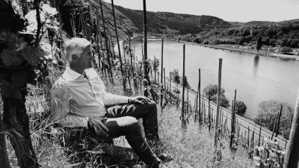 Adolph Huesgen op de wijngaard Enkricher Zeppwingert