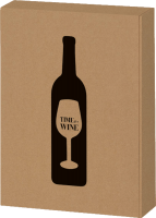 3 bottle gift box Time for Wine natural kraft paper