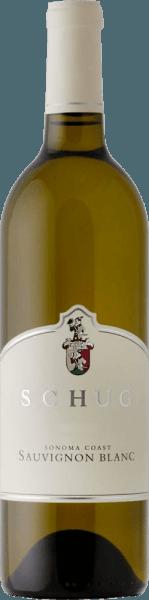 De Sauvignon Blanc van Schug Winery wordt uitsluitend gevinifieerd van Sauvignon Blanc-druiven en verschijnt in een delicaat lichtgoud in het glas. Het bouquet onthult evenwichtige fruitaroma's van kiwi, limoen en grapefruit - ondersteund door florale tonen. De persoonlijkheid komt tot uiting in de mond met een heerlijke kruidigheid en een evenwichtige zuurgraad. De sur lie rijping geeft deze witte wijn een heerlijk romige textuur. De afdronk wordt gekenmerkt door verfrissende mineraliteit en frisse zuren. Vinificatie van de Schug Sauvignon Blanc Sonoma Coast De druiven voor deze Californische witte wijn komen van verschillende wijngaarden. 32% van de druiven komt van uit Sonoma Coast AVA op Hi-Vista Vineyard - 21% komt vanGrossi Vineyardin het noorden van Petaluma - en 47% inLeveroni Vineyard. Nadat de Sauvignon Blanc-druiven zijn geoogst, wordt de oogst onmiddellijk naar de wijnmakerij gebracht. Daar wordt de most vergist in roestvrijstalen tanks. De wijn rijpt vervolgens in barriques op fijne droesem (sur lie ageing). Serveertips voor de Sonoma Coast Sauvignon Blanc van Schug Geniet van deze droge witte wijn uit Californië bij lichte roomsoepen - vooral asperges, bij gegrilde vis in een kruidencoating of bij mosselen in een witte wijnbouillon. Prijzen voor de Schug Winery Sonoma Coast Sauvignon Blanc Wijn Enthusiast: 90 punten voor 2016
