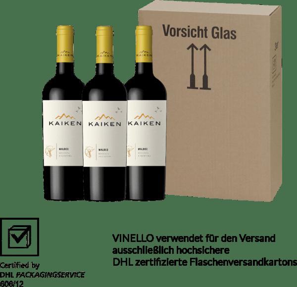 3er Vorteils-Weinpaket - Kaiken Malbec 2018 - Viña Kaiken von Bodega Kaiken
