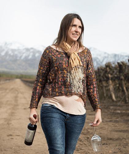 The winemaker Lucía Vaieretti