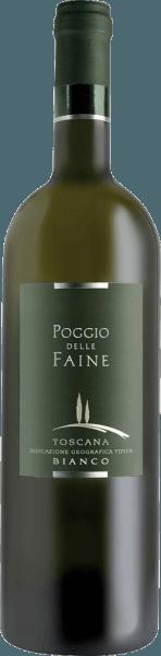 De Bianco IGT van Poggio delle Faine fonkelt in het glas in een helder goudgeel, terwijl hij zijn heerlijke bouquet ontvouwt. Deze betovert met frisse aroma's van kiwi, peer en banaan met een vleugje citrus. Deze Chardonnay, die 4 maanden in barrique vaten heeft gerijpt, is in de mond aanwezig met een verfrissende zuurgraad. De afwerking is mineraal. Deze witte wijn is de succesvolle witte tegenhanger van de populaire Rosso IGT van Poggio delle Faine. Spijsadvies voor de Bianco IGT van Poggio delle Faine Geniet van deze droge witte wijn bij vis en wit vlees, pasta en medium kaas.