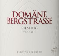 Voorvertoning: Riesling trocken 1,0 l 2018 - Domäne Bergstraße - Kloster Eberbach