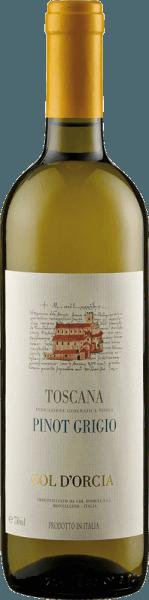 De Sant'Antimo Pinot Grigio DOC uit Col d'Orcia presenteert zich in het glas in een intens citroengeel met groenige reflecties. Deze witte wijn verspreidt zijn typische aroma's van citrusvruchten, florale hints en subtiele minerale tonen. Deze witte wijn uit Toscane is elegant en vol van smaak met een levendige zuurgraad en een fijne structuur. De afwerking is zeer delicaat en duurzaam. Vinificatie van de Sant'Antimo Pinot Grigio DOC uit Col d'Orcia Na de oogst werden de druiven voor deze wijn koud gemacereerd en voorzichtig geperst. De gisting duurde ongeveer 10-12 dagen. Om de aroma's te behouden, werd deze Pinot Griogio vroeg gebotteld. Spijsadvies voor de Sant'Antimo Pinot Grigio DOC van Col d'Orcia Geniet van deze droge witte wijn bij pasta en risotto, gegrilde groenten en antipasti of gerechten met champignons of wit vlees.