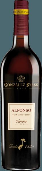 """DeAlfonso Oloroso Jerez van González Byass is een expressieve sherry, die uitsluitend wordt gevinifieerd van de druivensoort Palomino Fino. De druiven groeien in het Spaanse wijnbouwgebied DO Jerez. In het glas glinstert deze wijn in een prachtige amberkleur met gouden accenten. Het intense bouquet betovert de neus met veelgelaagde aroma's van noten - vooral hazelnoot en amandel springen in het oog - vergezeld van warme tonen van eikenhout en delicate hints van truffel en leer. Deze sherry is heerlijk droog en vol van smaak met een goede structuur in de mond en presenteert een meerlagig aroma van noten, toast en hout en een adem na vanille. De afdronk overtuigt met een zeer goede lengte. Vinificatie van de Alfonso Oloroso Byass Na de zorgvuldige oogst van de Palomino Fino druiven, worden de druiven naar de wijnkelder van Gonzalez Byass gebracht. Daar worden de bessen geperst - voor deze sherry wordt de sterke """"mosto de prensa"""", de most van de tweede persing, gebruikt. Bij lage temperaturen wordt deze sherry vergist in roestvrijstalen tanks en vervolgens versterkt tot 18 volumeprocent en in de bovenste rij vaten gelegd, de sobretabla van de Alfonso Solera. Deze sherry rijpt ongeveer 8 jaar in de solera vaten voordat deze wijn wordt gebotteld. Aanbevolen voedsel voor deGonzález Byass Alfonso Oloroso Jerez Deze sherry is een prima begeleider van varkenswangen, ossenstaart in donkere saus of zelfs van champignonpannetjes. Wij raden aan de Byass Alfonso Oloroso te serveren in een wit wijnglas om hem de ruimte te geven zijn bouquet te ontwikkelen. Onderscheidingen voor de SherryGonzález ByassAlfonso Oloroso Wine Spectator: 92 punten (Editie 2017)"""
