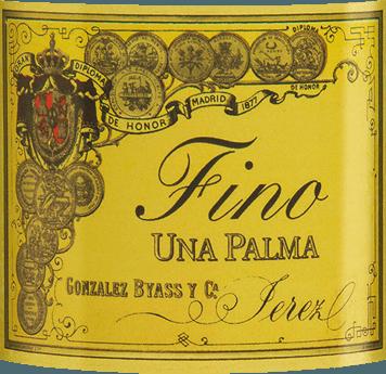 De Una Palma van Gonzalez Byass uit de Spaanse wijnstreek DO Jerez is een zuivere, evenwichtige sherry, die uitsluitend wordt gevinifieerd van de druivensoort Palomino Fino. In het glas schittert deze wijn in een delicaat lichtgoud met groenige accenten. Het gepolijste bouquet ontvouwt delicate aroma's van gedroogde noten, versgebakken brood, florale accenten van kamille en minerale nuances dankzij de Albariza bodem. Zeer droog met een sterke persoonlijkheid, deze sherry neemt het gehemelte over. De nootachtige tonen van de neus worden weerspiegeld en vergezeld door een evenwichtige, frisse textuur. De afwerking is heerlijk langhoudend. Vinificatie van deGonzalez Byass Una Palma Fino Na de zorgvuldige oogst van de Palomino Fino druiven, worden de druiven voorzichtig gekneusd in de wijnmakerij van Gonzalez Byass. Deze sherry wordt bij lage temperaturen vergist in roestvrijstalen tanks, vervolgens versterkt tot 15,5% volume en overgebracht in eiken vaten, sobretablas genaamd (vaten voor de jongste jaargangen). Deze sherry rijpt 6 jaar in de houten vaten en wordt na deze rijpingstijd ongefilterd en geklaard op de fles afgevuld. Aanbevolen voedsel voor de Una Palma Byass Fino Geniet van deze droge sherry licht gekoeld gewoon solo of serveer deze wijn bij verse zeevruchten en vis in romige sauzen. Onderscheidingen voor de Fino Una Palma Gonzalez Byass Robert M. Parker - Wine Advocate: 91+ punten Wine Spectator: 91 punten (toegekend december 2017)