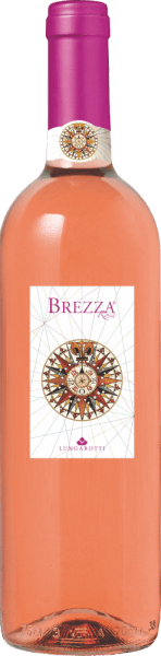 """The Brezza Umbria Rosato IGT - Fattoria del Pometo from Lungarotti shines in fine salmon pink in the glass. The bouquet is fresh, floral and smooth, with delicate notes of rose, wisteria and star anise, and aromas of raspberry and maraschino cherry. On the palate, this Rosato from Umbria is a delight with its fresh acidity, elegant mineral flavours, fruity and pleasant soft on the finish. Vinification of Brezza Umbria Rosato IGT Fattoria del Pometo by Lungarotti This pleasing Rosato is made mainly from Sangiovese, which grows in the plain of the Fattoria del Pometo, one of the vineyards of the Lungarotti family, on medium soils, which makes it particularly suitable for the production of Rosés. The grapes are harvested manually. After a short maceration on the skins, the must is drawn off and fermented in stainless steel tanks at a controlled temperature. Food pairings for the Brezza Umbria Rosato by Lungarotti Enjoy this Rosato from Umbria mainly chilled, ideal in summer, but also all year round. A beautiful wine for the """"Happy Hour"""", a versatile and perfect accompaniment to starters, cold cuts, vegetable soups, casseroles with vegetables or meat, such as the classic lasagna, to quiche, to white meat, fish from the sea and fresh water, fried dishes and egg dishes. Awards for the Brezza Rosa Falstaff: 90 points for 2019"""
