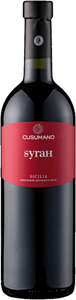 The Syrah Terre Siciliane IGT by Cusumano presents itself in the glass in a dark ruby red color and unfolds its wonderful fruity aroma with the notes of blackberry jam and a touch of mint. On the palate this red wine from Sicily is full-bodied and fleshy. Vinification for the Syrah Terre Siciliane IGT of Cusumano After the harvesting per hand the grapes are destemmed, cold macerated for 2 days and then the fermentation takes place at 26 ° -28 ° Celsius. The malolactic fermentation in stainless steel tanks on the lees lasts at least five months. Food recommendation for the Syrah Terre Siciliane IGT of Cusumano Enjoy this dry red wine with dishes with pork and beef, grilled meats or with mild cheese. Awards for the Syrah Terre Siciliane IGT of Cusumano Wine Spectator: 88 points (vintage 2015) James Suckling: 91 points (vintage 2014) Gambero Rosso: 2 glasses (vintage 2012)