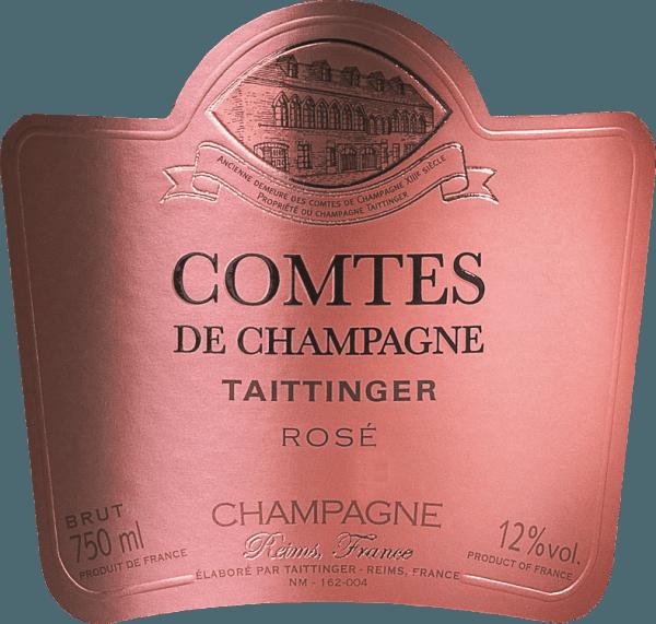 De Comtes de Champagne Rosé is een uitstekende, voortreffelijke champagne van het huis Taittinger. De twee druivensoorten Pinot Noir (70%) en Chardonnay (30%) zijn met elkaar getrouwd. In het glas schittert deze mousserende wijn in een stralend aardbeiroze met een delicate mousseux. Gossamer bubbels stijgen in onophoudelijke parelsnoeren. Het intense bouquet onthult aanvankelijk geurige aroma's van vers citrusfruit - bloedsinaasappel in het bijzonder - en wat framboos. Dit wordt gevolgd door rijpere tonen van gekonfijt rood en zwart fruit (crème de cassis, kersen en aardbeien), sappige perzik en wat gekonfijte gember. Tenslotte ontvouwen zich in de neus hints van zoet gebak en gekonfijte hazelnoten. Het gehemelte wordt verwend door deze Franse mousserende wijn met een verleidelijk spel van zuurgraad en zoetheid. De rode vruchten van de neus zijn aanwezig in de mond en worden vergezeld door fijne nuances van vanille en citroenschil. De body is zeer goed gestructureerd en bevalt met een elegante frisheid. De expressieve afdronk is ongelooflijk zacht, zeer lang en zijdeachtig. Vinificatie van deTaittingerComtes de Champagne Rosé Alleen streng geselecteerde druiven uit de Grand Cru wijngaardenvan de Montagne de Reims en de Côte des Blancs worden gebruikt voor deze magnifieke mousserende wijn. De druiven worden uitsluitend met de hand geoogst en onmiddellijk naar de kelder gebracht. Daar worden de druiven voorzichtig in hun geheel geperst. Alleen de fijne most na de eerste persing wordt gebruikt voor deze champagne. De mosten worden snel vergist in roestvrijstalen tanks. Een deel van deze wijn rijpt korte tijd in het vat voordat de assemblage wordt samengesteld. Met de toevoeging van de vulling dosering (gist en suiker), wordt de basiswijn gebotteld en laat rijpen in diepe Taittinger's krijt tunnels in Reims voor ten minste 5 tot 8 jaar. Door regelmatig schudden en draaien verzamelt de gist die zich aanvankelijk op de bodem bevond, zich geleidelijk in de hals van de fles