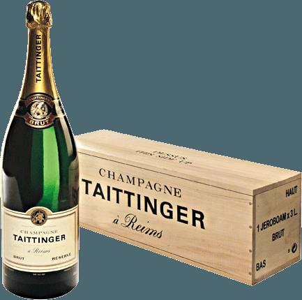 Champagne Taittinger's Brut Réserve is een levendige, harmonieuze mousserende wijn gemaakt van de klassieke Champagne druivensoorten Pinot Noir (40%), Chardonnay (40%) en Pinot Meunier (20%). In het glas schittert deze mousserende wijn in een stralend licht goud en schittertmet een fijne perlage en een delicate en persistente mousseux. Het frisse bouquet wordt gekenmerkt door geurige tonen van rijpe mirabellen, knapperige appels, amandelen en gekonfijte citroenschil. De aroma's in de neus worden onderstreept door fijne minerale hints. In de mond is deze champagne sappig en fris met een heerlijk levendig karakter. Het aromatische fruit biedt een perfect samenspel met de vitale zuurgraad. De zijdezachte afdronk heeft een heerlijk aangename lengte. Vinificatie van de Champagne Taittinger Brut Réserve dubbel magnum De druiven voor deze heerlijke mousserende wijn zijn afkomstig van verschillende plaatsen en wijngaarden in de Champagnestreek. De oogst gebeurt uitsluitend met de hand en de druiven worden onmiddellijk naar de wijnkelder gebracht. Daar worden de druiven voorzichtig in hun geheel geperst. De mosten worden vervolgens vergist in roestvrijstalen tanks ende jonge wijnen van oorsprong worden gemengd met geselecteerde reservewijnen van vorige wijnjaren om de basiscuvée Réserve te creëren. Voor de tweede gisting, wordt de basiswijn gebotteld met toevoeging van tiragelikeur (gist en suiker) en laat men het rijpen in de Taittinger kelder.Door regelmatig schudden en draaien verzamelt de gist die zich aanvankelijk op de bodem bevond, zich geleidelijk in de hals van de fles. Uiteindelijk wordt deze champagne gedegorgeerd. Dit houdt in dat de gistprop in de hals van de fles wordt bevroren en dat de fles wordt geopend. Het tekort bij het openen wordt aangevuld met een dosering voor de scheepvaart (suiker en wijn). Spijsadvies voor de Jeroboam Taittinger Champagner Brut Réserve Deze mousserende wijn uit Frankrijk is een zeer fijn aperitief voor elke maaltijd en bij alle fee