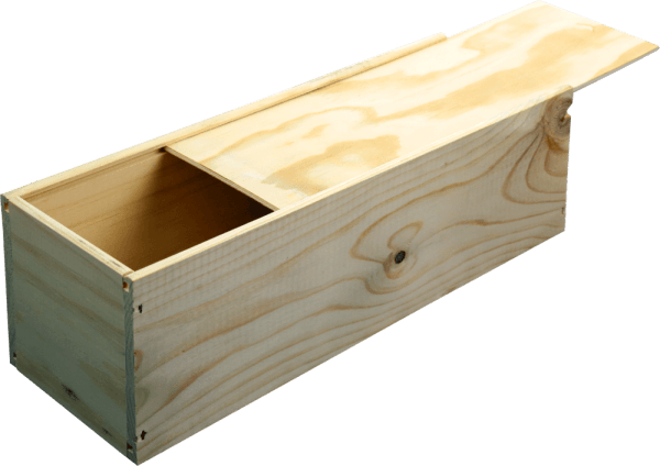 B-STOCK - 1 bottle wine wooden box with sliding lid von VINELLO