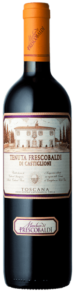 The Tenuta Frescobaldi di Castiglioni Toscana IGT by Tenuta di Castiglioni is purple in colour with violet reflections. The intense nose is dominated by fruity aromas of red berries such as strawberries and currants, followed by pleasantly spicy and balsamic notes of aniseed and cinnamon and a delicate hint of cocoa. On the palate it is long and persistent, supported by a beautiful body. A remarkable acidity and dense, well-bonded tannins fill the mouth and lead to a fruity finish. Serve it with stewed or fried beef, roast pork, rabbit and wild boar dishes and well-ripened cheeses. Awards James Suckling - 93 points Picture differs!