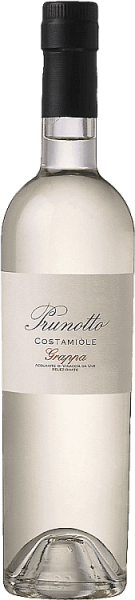 De Grappa di Costamìole van Prunotto schittert kristalhelder in het glas, op de neus presenteert intense en elegante aroma's die het karakter van de Barbera druif weerspiegelen, in de mond is de grappa droog van smaak, warm en smeltend in de afdronk. Productie van de Grappa di Costamìole door Prunotto Deze grappa van Prunotto is een zuivere grappa, gemaakt van de met zorg geselecteerde en gedistilleerde draf van de Barbera-druiven die voor de Costamìole-wijn worden gebruikt.