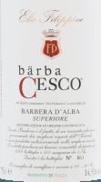 Voorvertoning: Bärba Cesco Barbera d'Alba Superiore DOC 2016 - Elio Filippino