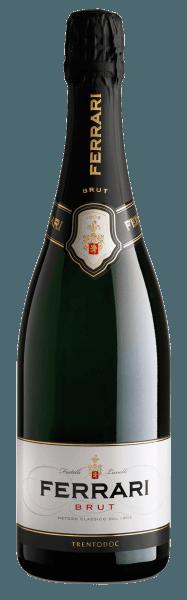 Deze mousserende wijn symboliseert de geschiedenis van de Ferrari-wijnmakerij en wordt sinds 1902 in de regio Trentino gevinifieerd. De Ferrari Brut van Ferrari presenteert zich van een strogele kleur met groenige schakeringen in het glas. Het bouquet van deze Spumante is intens en ademt aroma's van gist, veldbloemen en Golden Delicious appels. In de mond biedt hij harmonie, zachtheid, helderheid en tonen van vers brood en rijp fruit. Awardsvoor deFerrari Brut Trentodoc van Ferrariwinereview online: 90 puntenWine Spectator: 90 pts & slimme koop voorWine Enthusiast: 90 ptsGambero Rosso: 2 glazen elk in Gamb. Rosso 2010 - 2014Bibenda: 4 druiven