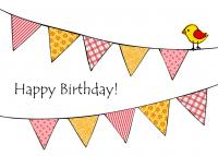 Grußkarte Happy Birthday mit Umschlag
