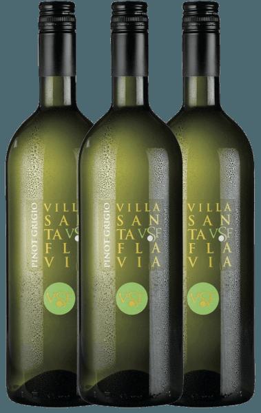 De Pinot Grigio van het wijnhuis Villa Santa Flavia biedt een fris, mild wijngenot. In de neus en de mond fruitig-frisse aroma's van knapperige appels met subtiele kruidentonen. Koop de Italiaanse witte wijn in de praktische 3 voordeel verpakking. Leer meer over deze droge witte wijn uit Italië in het enige artikel van de Pinot Grigio van Villa Santa Flavia.