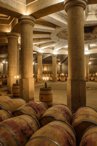 In the wine cellar of Chateau Lafite Rothschild
