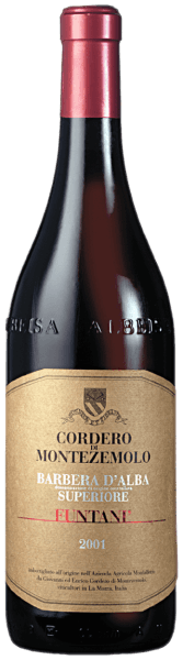 """Deze intense, veelgelaagde en raszuivere Barbera is een van de allerbeste wijnen uit Piemonte. Deze single-varietal rode wijn betovert met zijn onbeschrijflijk volle smaak van zoethout, chocolade en kersen. Een volle, aardse structuur, een krachtig karakter en de voortreffelijk geïntegreerde, soepele tannines bekronen deze Superiore. Food Pairing / Voedingsadvies voor deBarbera d'Alba Superiore Funtani DOC van Cordero di MontezemoloWij raden deze wijn aan bij typisch Piemontese vleesgerechten met verschillende sauzen, bij gestoofd rundvlees en bij gekookte worst met linzen. Het is ook uitstekend met """"Bagna Caoda"""" (typisch knoflookgerecht) en stoofpot van eend. Prijzen voor deBarbera d'Alba Superiore Funtani DOC van Cordero di MontezemoloBibenda: 4 druiven (oogstjaar 12)Parker punten - Wine Advocate: 91 pts (jaargang 10)James Suckling: 93 pts (jaargang 12), 90 pts (jaargang 10)"""