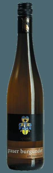 De Pinot Gris am Nussbaum van het wijngoed Spiess schittert in een delicaat geel met gouden reflecties. Het bouquet ademt aroma's uit die typisch zijn voor de variëteit, met fijne hints van amandel. In de mond toont de witte wijn uit Rheinhessen tonen van sappige peren met nuances van ananas en citrusvruchten. De Pinot Gris heeft een fluweelzachte volheid en is sterk van karakter. Serveertip/spijscombinatie Deze witte wijn van Spiess past uitstekend bij wit vlees met groenten of in ham gewikkelde asperges in Hollandaisesaus.