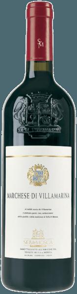 De Marchese di Villamarina Alghero DOC van Sella & Mosca verschijnt in het glas in een intense robijnrode kleur en verspreidt zijn intense en aanhoudende bouquet met de tonen van rode bessen, die worden onderstreept door vanille en andere kruidige nuances. In de mond zijn warme nuances van hooi te bespeuren, in harmonie met het aroma van Tronçais-eik, dat wordt gevormd door de lange verfijning in kleine vaten van dit hout. Vinificatie van de Marchese di Villamarina door Sella & Mosca Alghero DOC ligt in de provincie Sassari in het vlakke deel van Nurra, in het noordwesten van Sardinië. Het klimaat van het eiland is mediterraan met veel zon. De wijnstokken groeien op kalkhoudende, kleiachtige en zanderige bodems die rijk zijn aan ijzer. De druiven worden ontsteeld, gekneusd en gedurende 24 uur bij een temperatuur van 15° Celsius aan uitloging onderworpen. De gisting begint dan bij 20° Celsius en gaat verder met een stijgende warmtecurve van 28-30° Celsius. De gisting duurt ongeveer drie weken. Daarna volgt een spontane malolactische gisting en vervolgens begint de eerste rijpingsfase, die plaatsvindt in kleine Bordeaux-vaten van Tronçais-eikenhout gedurende een periode van ongeveer 14 maanden. Daarna volgt nog een rijping van 12 maanden in traditionele vaten met een groter volume en, na het bottelen, een laatste verfijning in donkere kelders bij een temperatuur van 16° Celsius gedurende ten minste nog eens 18 maanden. Aanbevolen voedsel voor de Marchese di Villamarina Alghero DOC Geniet van deze droge rode wijn bij gebraden of gestoofde vleesgerechten of wild. Het wordt aanbevolen de fles enkele uren voor consumptie te ontkurken. Prijzen voor de Marchese di Villamarina Alghero DOC van Sella & Mosca Bibenda: 5 druiven Gambero Rosso: 2 rode glazen Veronelli: *** (90 punten)