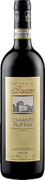 De Chianti Rufina Basciano DOCG van Renzo Masi heeft een aantrekkelijke rode kleur in het glas. Deze rode wijn onthult zijn bouquet, dat betovert met balsamico tonen en sappige aroma's van wilde bessen. In de mond barst deze cuvée van Sangiovese en Colorino van kracht en substantie zonder iets van zijn elegantie te verliezen. Spijsadvies voor de Chianti Rufina Basciano DOCG van Renzo Masi Geniet van deze droge Chianti Rufina bij pasta met tomatensaus, stevige gerechten met varkens- en rundvlees, lam en wild of bij kaas. Onderscheidingen voor de Chianti Rufina Basciano DOCG van Renzo Masi Gambero Rosso: 2 glazen (oogstjaar 2013) Robert Parker / The Wine Advocate: 90 punten (jaargang 2012)