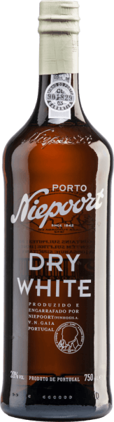 "Niepoort's Dry White is a white port that presents itself in a wonderful golden colour. The strong and powerful bouquet combines fresh aromas of citrus fruit and yellow stone fruit with nuances of nuts and almonds, which continue on the palate. With its well-structured body and a harmonious taste of dried fruit, this port wine fulfils the palate. The long finish convinces with freshness and concentration, thanks to the maturation in oak barrels. Not surprising: Despite the name ""Dry White"", this port is not really dry, but rather semi-dry with a residual sugar content of 43.4 g/l. Food recommendation for the Dry White Niepoort Port This dry port wine tastes wonderful as an aperitif or as a long drink served with tonic, lemon peel and ice cubes. Awards for the Niepoort Dry White Port Wine Enthusiast: 87 points"