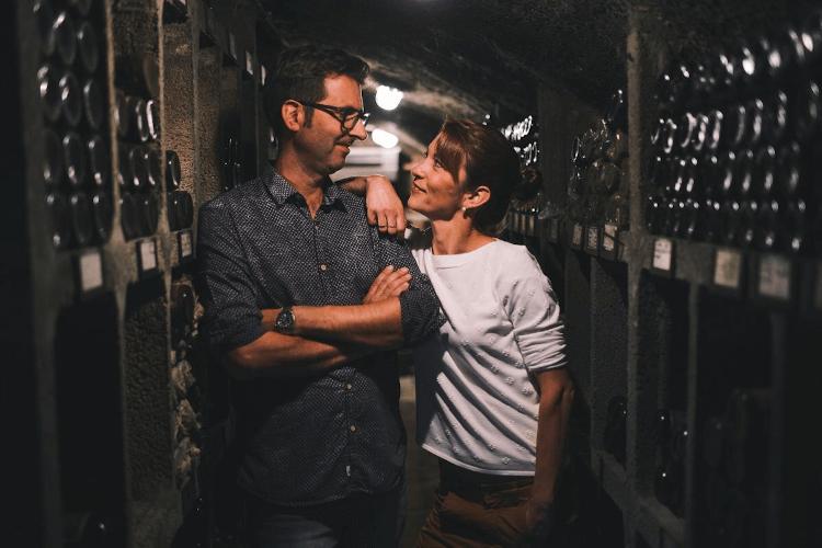 The winemaker couple Martin and Britta Korrell
