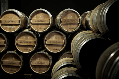 Own barrels in the wine cellar of La Rioja Alta