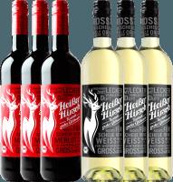 Voorvertoning: 6er Mixpaket - Bio-Glühwein rot & weiß - Heißer Hirsch