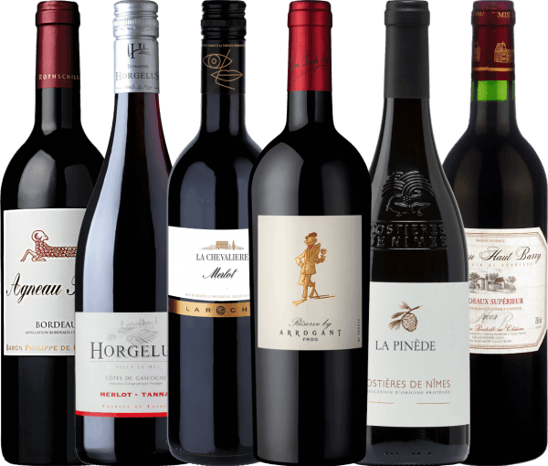 6-pack - Wonderful Red Wines from France von VINELLO