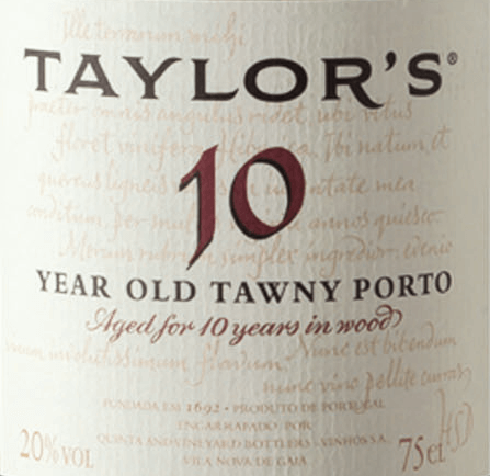 The Tawny 10 Years Old from Taylor's Port matured 10 years in old barriques with 620-litre capacity and is vinified from the grape varieties Tinta Amarela, Touriga Nacional, Touriga Francesa, Tinta Roriz, Tinta Barocca and Tinta Cao. In the glass this port shines in tan tones with brick-red reflections. The sweetish bouquet is extremely complex: oven-fresh prunes are combined with figs, quince jelly and a hint of honey. This is accompanied by subtle hints of herbs and spices. These notes can also be found in the taste, where they harmonise with a fruity, surprisingly fresh acidity and nut notes. This port wine has a lot of tension, strength and liveliness, which last into the long, balanced and very elegant finish. Vinification of Taylor's Port Tawny 10 Years Old Matured Tawny with age indication requires first of all the art of blending and wise foresight on the evolution of the wine during its long maturing period in the barrel. Each Tawny is composed from the beginning for its specific age: 10, 20, 30 or 40 years and must always have its characteristic style and taste. Even if this port is always composed from different wines and vintages. The grapes for this wine are harvested exclusively by hand and brought to the Taylor's Port cellar, where they are destemmed and fermented in open stainless steel tanks. As soon as half of the sugar is fermented, the fermentation process is stopped by adding high-proof distillate. This preserves the natural residual sweetness of this wine. Finally this Port wine matures for 10 years in wooden barrels, until it is filled on the bottle. Food recommendation for the 10 Years Old Taylor's Port Tawny This wonderful port wine, matured for 10 years, is a delicious dessert wine and the perfect conclusion to a good meal. Awards for Taylor's Tawny Port Wine Spectator: 90 points Robert M. Parker - The Wine Advocate: 90 points