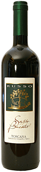 De Sasso Bucato IGT van Russo schittert met een krachtige, fluweelzachte en karmozijnrode kleur in het wijnglas. De neus onthult zijn buitengewone dichtheid van zoet donker fruit, kruiden en mineralen. De mooie geur met de variëteitenaccenten van de druiven combineert met de warmte van deze Toscaanse persoonlijkheid. Zacht, elegant en vol, het gehemelte verwent met consistente, uitgesproken fruittonen en een uitstekende persistentie in plaats van uit te monden in de lange, aanhoudende afdronk. Wij raden het aan bij gegrild varkensvlees en biefstuk.
