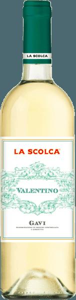 """Deze fijne Gaviverkrijgt zijn frisheid door druiven van jonge Cortese wijnstokken te persen. Hij heeft een lekkere zuurgraad en is zeer select. De geschiedenis van de Gavi is onlosmakelijk verbonden met het landgoed Scolca, dat als eerste de witte wijn Gavi uit zuivere Cortese-druiven perste. Als wijnbouwgebieden zouden worden ingedeeld zoals in Frankrijk, zou La Scolca een """"Premier Cru""""-gebied zijn. Voor elke wijn worden zeer persoonlijke methoden van wijnselectie en vinificatie gebruikt. Food pairing / aanbeveling voor gerechten voor deValentino Gavi DOCG van La Scolca Door zijn zachte bouquet past hij uitstekend bij zowel voorgerechten als lichte vlees- en visgerechten, salades en lichte voorgerechten."""