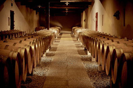 In the wine cellar of Château Coutet