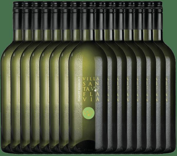 De Pinot Grigio van het wijnhuis Villa Santa Flavia biedt een fris, mild wijngenot. In de neus en de mond fruitig-frisse aroma's van knapperige appels met subtiele kruidentonen. Koop de Italiaanse witte wijn in de praktische 15 voordeelverpakking. Leer meer over deze droge witte wijn uit Italië in het enige artikel van dePinot Grigio van Villa Santa Flavia.