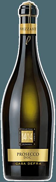 De Prosecco frizzante DOP van Casa Defra schittert in een heldere strogele kleur in het glas.De neus wordt verwend met fruitige aroma's van citrusvruchten en appels. In de mond schittert hij met een prachtig aromatisch spel van fruit met een zeer subtiele restzoetheid die uitmondt in een verfrissende afdronk.Al met al een levendige, sprankelende, zeer drinkbare en typische Frizzante. Spijsaanbeveling voor deProsecco frizzante DOP van Casa Defra Wij bevelen het aan als aperitief, bij fingerfood, antipasti of als alternatief voor een espresso.