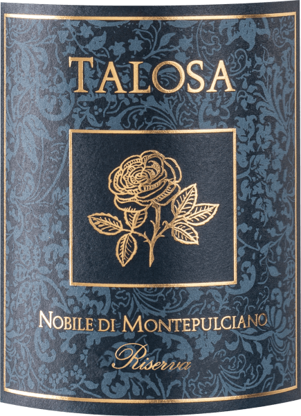 The Vino Nobile Montepulciano Riserva DOCG from Fattoria della Talosa in the heart of Tuscany impresses with its velvety, deep red colour in the glass. The bouquet opens up rich and complex on the nose with aromas of red berry fruits, varietal floral notes of wild violet, hints of spices, undergrowth and leather in the background. On the palate this excellent Vino Nobile Riserva shows an elegant combination of density and freshness, well integrated acidity, full-bodied taste, embedded in soft, ripe tannins, which give this Italian red wine its remarkable texture. The finish is persistently long, dense, elegant and fruity. Vinification of the Vino Nobile Montepulciano Riserva DOCG from Fattoria della Talosa The grapes for this Vino Nobile Riserva come from the vineyards in the Pietrose Montepulciano area, from vines that are at least 30 years old, which gives the wine its density and substance. Fermentation and subsequent malolactic fermentation take place over 20-25 days at controlled temperature in special stainless steel conical tanks. The wine is then aged for three years in large barrels and partially in new barriques and tonneaux, followed by a bottle ageing of about 6 months. Food pairing for the Vino Nobile Montepulciano Riserva DOCG from Fattoria della Talosa Enjoy this remarkable red wine from Tuscany as an excellent accompaniment to robust dishes with strong and spicy meat. Awards Luca Maroni - 93 points for 2015 Veronelli - 92 points for 2015 Vini Buoni d'Italia - 4 stars for 2015 Decanter: Silver for 2015