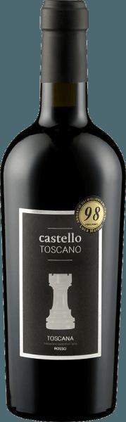 De robijnrode Toscana Rosso van Castello Toscano is het gezamenlijke project van Rolf Freund en wijnmaker Matteo Bernabei. Een heerlijk klassieke Toscaan met veel zwarte bessen, volrijpe kersen en goed geïntegreerde houtnuances. Hints van specerijen zoals vanille en zoethout vullen het aan. De krachtige, harmonieuze en fruitige smaak van de Toscana Rosso van Castello Toscano inspireert van begin tot eind. Zachte tannines en een goed geïntegreerde zuurgraad maken dat je meer wilt. Vinificatie van de Toscana Rosso van Castello Toscano Deze rode wijn wordt gevinifieerd uit Sangiovese en Merlot en rijpt in grote houten vaten en gedeeltelijk in barrique. Food pairing voor de Castello Toscano Rosso Geniet van deze Toscaanse rode wijn bij pastagerechten of kort gebraden rundvlees.