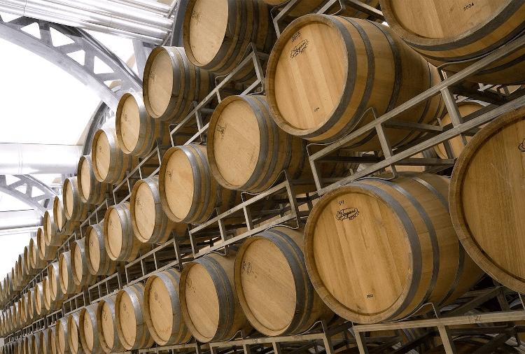 In the wine cellar of Stemmari