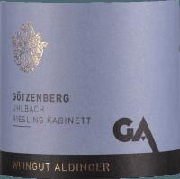 Voorvertoning: Uhlbacher Götzenberg Riesling Kabinett 2018 - Aldinger