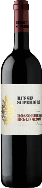 """Deze cuvée van rode wijn schittert in een diep robijnrood en is evenwichtig en krachtig tegelijk. De Riserva degli Orzoni Rosso DOC Collio uit Russiz Superiore is een prachtige compositie van bramen en wilde bessentonen met balsamico nuances en delicate specerijen. Deze elegante Italiaanse wijn rijpte twee jaar in kleine eikenhouten vaten, daarna nog 12 maanden in de fles. De naam """"Orzoni"""" is een eerbetoon aan de familie die tussen 1558 en 1770 eigenaar was van het landgoed Russiz Superiore. Onderscheidingen voor deRiserva degli Orzoni Rosso DOC Collio uit Russiz SuperioreParker punten - Wine Advocate: 90 pts. (Yr. 06)"""