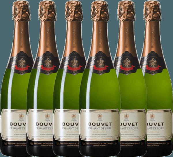 6er Vorteils-Weinpaket - Crémant Brut Blanc Excellence - Bouvet Ladubay