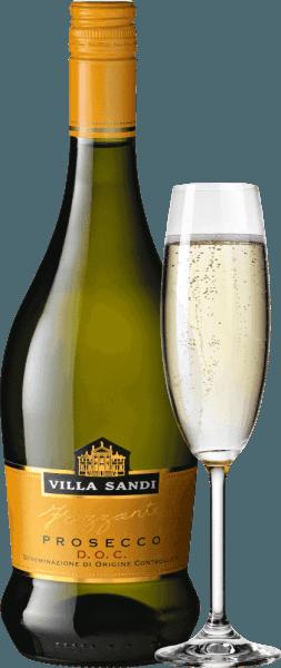 De Prosecco Frizzante van Villa Sandi uit het Italiaanse wijnbouwgebied Veneto is een zachte, fruitige en ongecompliceerde mousserende wijn die wordt gevinifieerd van het druivenras Glera. Deze Frizzante verschijnt in een licht strogele kleur met groenige reflecties in het glas. De neus wordt gedomineerd door een heerlijke, frisse en fruitige geur. Het onthult fruitige aroma's van sappige appels, perfect aangevuld met bloemige noten van acaciabloesem. Deze Prosecco heeft een verleidelijke en fijne mousse. Het gehemelte wordt geflankeerd door een zacht karakter - de aroma's van de neus komen ook tot uiting en benadrukken het elegante, fijne parelachtige totaalbeeld. Vinificatie van de Villa Sandi Prosecco Frizzante De most die wordt verkregen door persing van de hele druiven wordt vergist in druktanks om de Frizzante te produceren. Het eigen koolzuur van de gisting leidt tot een zeer fijne, elegante perlage. Spijs aanbeveling voor de Frizzante Villa Sandi Prosecco Geniet van deze fijne mousserende Frizzante uit Italië goed gekoeld als een klassiek aperitief of serveer hem met vers zomerfruit en lichte sorbets!