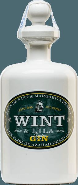 """De London Dry Gin van Wint & Lila is opgedragen aan de Spaanse familie Wint & Lila. Deze familie stichtte in de 17e eeuw de Oost-Indische Compagnieën in Zuid-Spanje. Alleen de beste kruiden en specerijen worden voor deze gin gebruikt. Reeds in de neus ontvouwt zich een heerlijk bloemig aroma, dat vergezeld gaat van kruidige hints. In de mond overtuigt deze gin met zijn frisse en mediterrane karakter. Productieproces van deWint & LilaLondon Dry Gin Jeneverbes wordt als basis genomen voor deze Spaanse gin. Daarnaast, onder andere,koriander, engelwortel en kaneel. Voor de frisheid in de mond en het unieke karakter van deze gin zorgen de inheemse plantaardige stoffen zoalssinaasappelschil, oranjebloesem, citroen, limoen en pepermunt uit Andalusië De botanicals worden samengesmolten in eeuwenoude koperen bubbels volgens de """"au bain marie""""-methode. Het distillaat wordt in totaal vijf keer gedistilleerd. Serveersuggestie voor de London Dry Gin Wint & Lila Geniet van deze gin uit Spanje met plezier solo of ook in uw favoriete longdrink. U kunt de serveertemperatuur naar eigen voorkeur bepalen."""