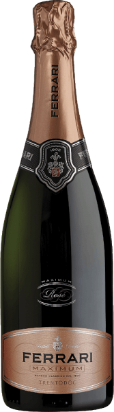 Deze mousserende cuvée van het huis Ferrari bestaat uit 60% Pinot Noir en 40% Chardonnay. De Maximum Rosé van Ferrari straalt een delicaat bouquet van gist en bessen uit, afgerond door een complexe en kruidige afdronk. De Spumante schittert door zijn evenwichtige smaak, zijn elegantie, zijn langdurige afdronk met fijne gist en milde tannine, en een appetijtelijk aroma van wilde bessen met een kruidige noot. Voor veeleisende wijnliefhebbers kan hij een hele maaltijd begeleiden. Prijzen voor deFerrari Maximum Rosé van Ferrari Bibenda: 4 druiven