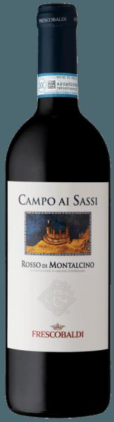 DeCampo ai Sassi Rosso di Montalcino DOC van Tenuta di CastelGiocondo is een kruidige, minerale rode wijn gemaakt van Sangiovese druiven in Toscane (Italië). Hij maakt vooral indruk door zijn harmonieuze fruitigheid. Een geweldige wijn voor alle liefhebbers van droge wijnen! Proeverij / Degustatie van de Campo ai Sassi De Campo ai Sassi Rosso di Montalcino DOC van Tenuta di CastelGiocondofonkelt in een rijk robijnrood. De complexe neus zit vol fruitige tonen van kersen, bramen, pruimen en wilde bessen, aangevuld met minerale hints, geroosterde tonen van cacao en koffie, en nuances van tabak. In de mond is deze heerlijke rode wijn, gemaakt van Sangiovese druiven uit Toscane, warm en zacht. Deze wijn is heerlijk harmonieus met zachte tannines die goed in de structuur zijn geïntegreerd. Een lange, aanhoudende afdronk met een subtiele fruitige afdronk rondt deze kruidige Italiaanse wijn af. Vinificatie / Productie van de Campo ai Sassi Campo ai Sassi is gemaakt van de Sangiovese druivensoort. De druiven groeien in vrij jonge wijngaarden, waarvan de wijnen bouquetrijk en elegant zijn, maar minder tanninerijk dan bijvoorbeeld de druiven die gebruikt worden voor de productie van Brunello. Na de oogst laat men de druiven 16 dagen gisten in de most. Onmiddellijk na de alcoholische gisting wordt de malolactische gisting toegevoegd. Campo ai Sassi rijpt in totaal 12 maanden: deels in Slavisch eiken vaten van 80 en 100 liter inhoud, deels in barrique vaten. De laatste 4 maanden brengt deze rode wijn door in de flesopslag. Hier kan hij zijn complexiteit en harmonie volledig ontwikkelen. Serveertips/spijs combinaties voor deCampo ai Sassi Rosso di Montalcino DOC Met een temperatuur van 16 tot 18°C is hij een heerlijke begeleider van gemengde vleesgerechten, pasta met vleessaus en gestoofd vlees zoals kip of konijn.
