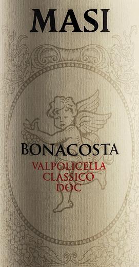 De magische cuvée van drie van de beste druivensoorten uit de Veneto De Masi Bonacosta Valpolicella Classico wordt gemaakt van de drie druivensoorten Corvina, Rondinella en Molinara. Kersenrood van gemiddelde intensiteit met een violet randje, deze rode wijn presenteert zich in het glas. Intense geuren van verse kersen en frambozen gaan samen met impressies van kruiden zoals kruidnagel. In de mond voelt men de fijne frisheid van een evenwichtige zuurgraad, vergezeld van ingehouden tannines. De sappige afdronk doet denken aan kersen en vanille. Spijsadvies voor de Bonacosta Valpolicella Classico DOC van Masi Agricola Deze rode wijn harmonieert met een verscheidenheid aan gerechten - van eenvoudig tot verfijnd. Onderscheidingen voor de Bonacosta Valpolicella Classico DOC van Masi Agricola Parker Points - Wine Advocate: 88 pts (Yr. 13)