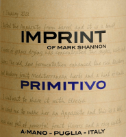 Voorvertoning: Imprint Primitivo Puglia 2019 - A Mano